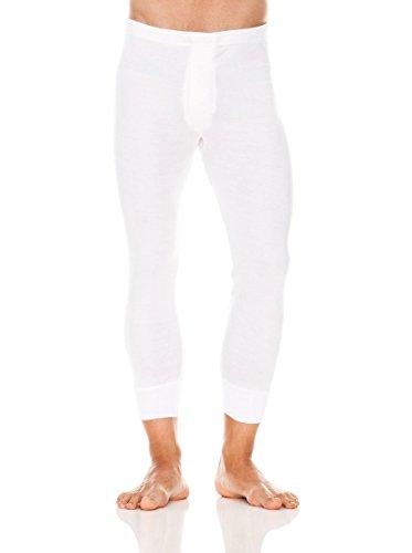 ABANDERADO Termal Fibra Invierno Calzón Largo Pantalones térmicos, Blanco, L para Hombre