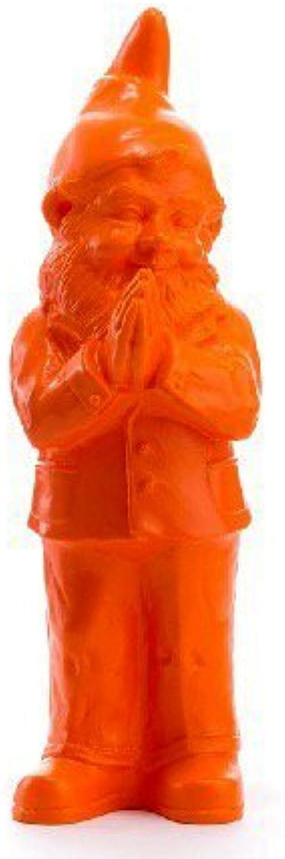 Ottmar Horl Der Zwerg Beni betendes, Orange, des Künstlers Editions mehrere 2012 – Maße  H. 40,5 x p.17 cm x L.19 cm – Material  Polychlorid (Vinyl B01FSSBMT6 | Export