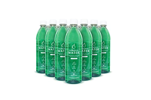 Chlorophyll Water® (Case of 12): Plant Based Vitamin Water for Antioxidants, Detox, Immune Booster, Vegan Energy, Liquid Chlorophyll, Purified Water with Vitamins A, B12, C & D, Zero Calories, 16.9oz