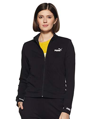 PUMA Damen Trainingsjacke Amplified Track Jacket TR 854381 Cotton Black M