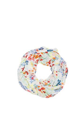 s.Oliver Damen 38.899.91.7688 Snood Schal, off-white AOP, One Size (Herstellergröße:1)