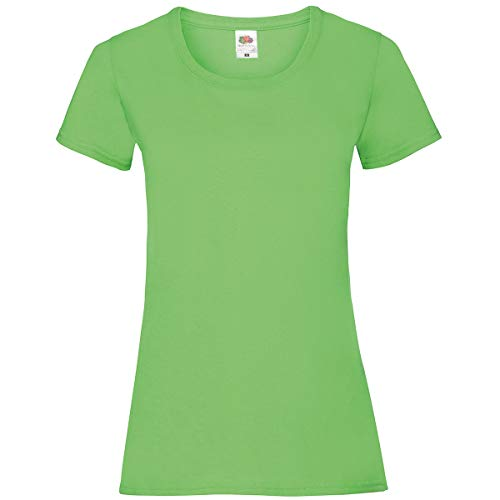 Fruit of the Loom Valueweight T Lady-Fit Damen T-Shirt NEU, Größe:L, Farbe:Lime