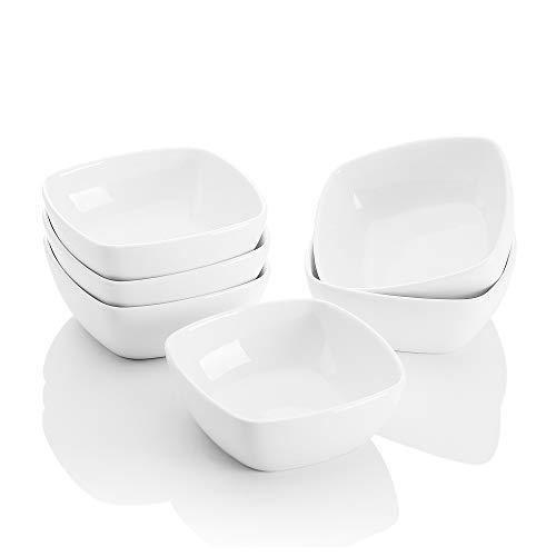 MALACASA, Serie Ramekin.Dish, 6-TLG. Set Mini Porzellan Dessert Schälchen für Nuss, Snack, Vorspeise, Nachtisch 4