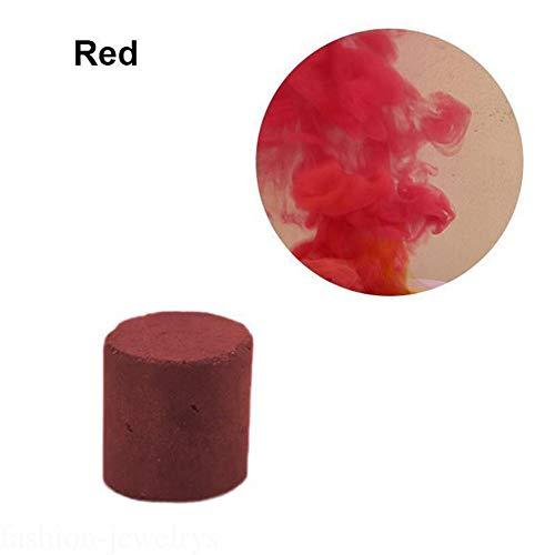 Teekit Pastel de Humo de Colores Pastillas Redondas Apoyos fotográficos Escenario cinematográfico Efecto de Humo Fabricante de Cigarrillos,Rojo