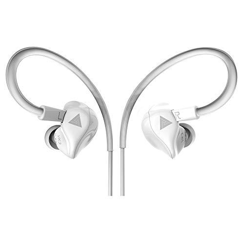 GKJ Auriculares In-Ear, con Cancelación De Ruido, Estéreo Y Sonido De Alta Fidelidad, con Almohadillas Suaves Y Cómodas, Huawei Y Todos Los Dispositivos De Auriculares De 3.5Mm,Blanco
