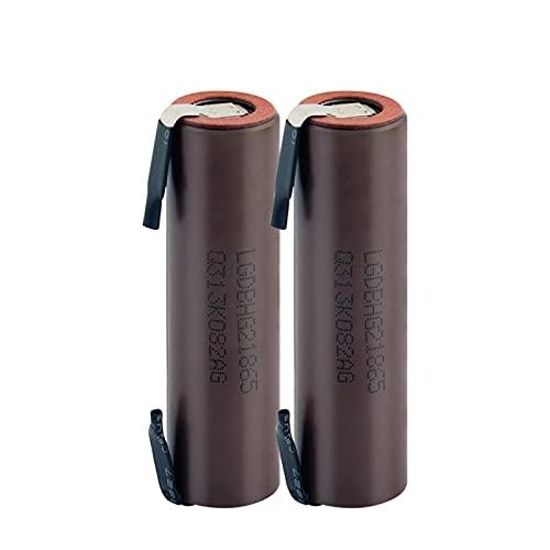 HTRN Batería De Litio De 3.7v Hg2 18650 3000mah, Descarga Recargable 20a + níQuel DIY Utilizado para Linterna MicróFono De Potencia MóVil 2Pieces