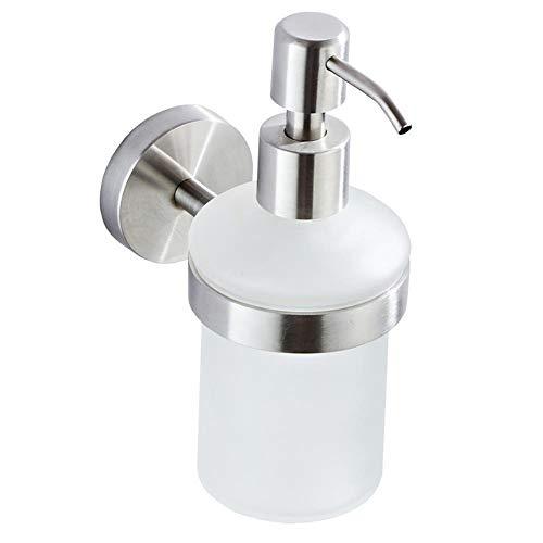 ZQEDY Vloeibare Zeepdispenser Moderne Lotion Fles Muur Gemonteerd Thuis Keuken Voor Badkamer Wasruimte Restaurant Shampoo Container Handmatig Bediend RVS Hotel Toilet