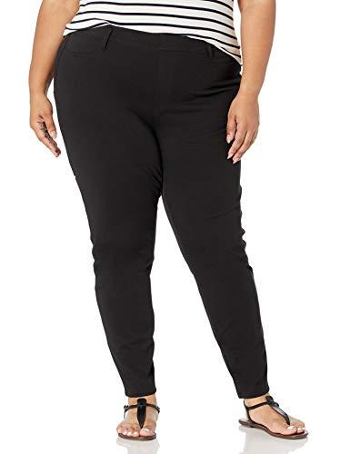 Amazon Essentials Plus Size Pull-On Knit Jegging Pants, schwarz, 46-48