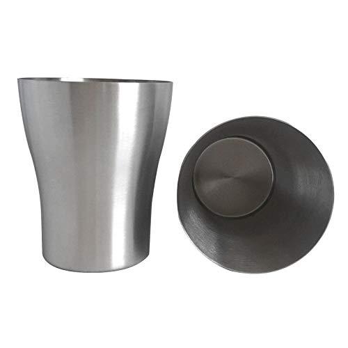 Cuisine multifonction Culotte à boisson en acier inoxydable électropolie à simple paroi, taille unique, taille 350 ml (Argent) Légère et durable, facile à laver et à nettoyer (Couleur : Silver)