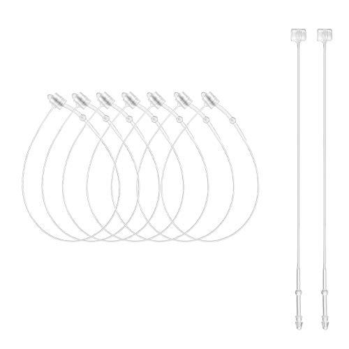 CODIRATO 500 Pcs Sicherheitsfäden Transparent Loop Pins Loop Lock für Kleidung, Schuhe und andere Produktetiketten(130mm)