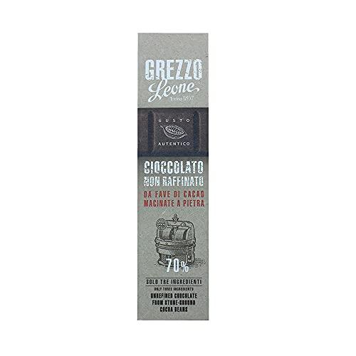 Leone Rohe Steingemahlene Schokolade 70%, Kakao, 55g.