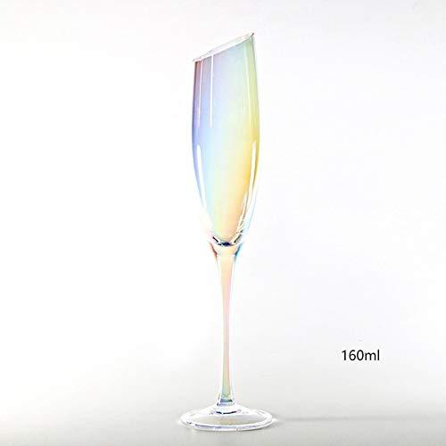 qwert Copa de Cristal Colorida Copa de champán Galvanoplast