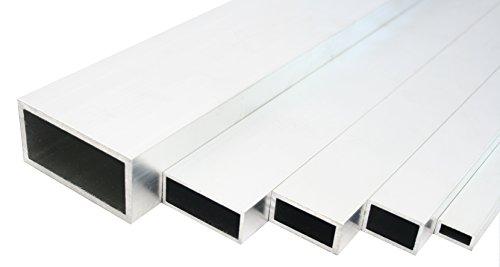 Aluminium Rechteckrohr Walzblankes Vierkantrohr 50x30x3 mm 1000mm