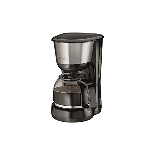 Clatronic KA 3575 Kaffeemaschine, für 8-10 Tassen Kaffee (ca. 1,25 Liter), 1000 Watt, Edelstahleinlage, Nachtropfsicherung