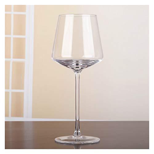 400-500ml Simple High-End Vin: Copa de Vino Tinto sin Plomo Copa de Vidrio de Copa de Vino Taza de Vino Barra de Bebidas Barras de Restaurante Inicio Gafas Copas De Vino Tinto (Color : Transparent)