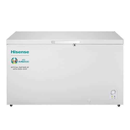 Hisense FT546D4AW1 - Arcón Congelador Horizontal Clase A+, Color Blanco, Capacidad Neta 420L con 85 cm Alto, Función Dual Convertible en Modo Frigorífico, Cesta con Asa, Bajo Nivel Sonoro