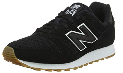New Balance Damen 373 Sneaker, Schwarz (Black/White BTW), 36.5 EU