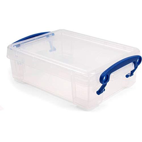 Really Useful Box 6 Stück Aufbewahrungsbox 0,75 Liter inkl. Deckel, 195x135x55mm - transparent