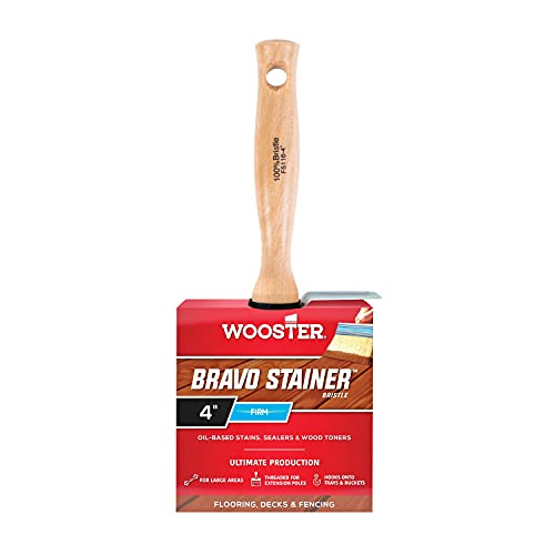 Wooster Brush F5116-4 Stainer Stain Brush, 4-Inch