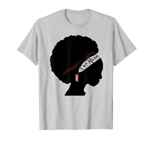 Afro A-me- Camiseta de orgullo puertorriqueño Camiseta