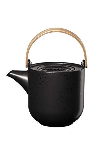 ASA coppa Teekanne mit Holzgriff kuro Porzellan 1l