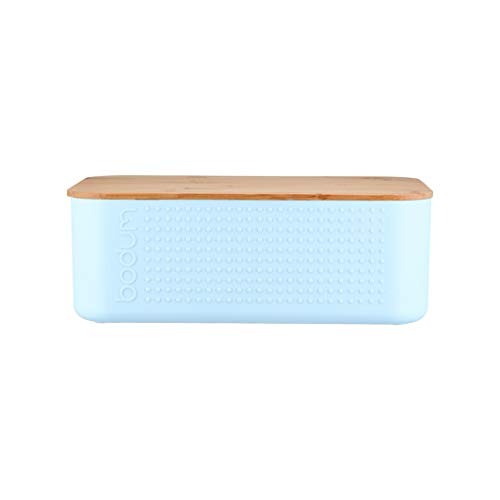 Bodum Bistro - Cassetta portapane, plastica bambù, Blu, Medium