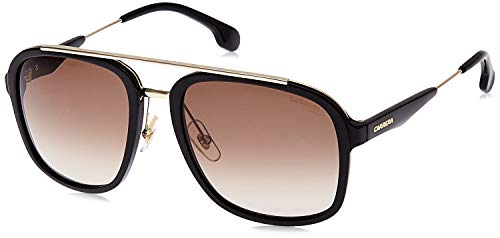 Carrera 133/S HA 2M2 Gafas de sol, Negro (BLACK GOLD/BRWN SF), 57 Unisex-Adulto