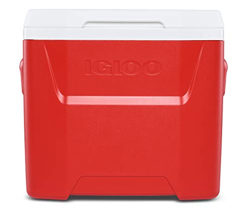 Igloo 28-Quart Laguna Roller Ice Chest Cooler with Wheels - Red