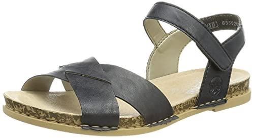 Rieker Damen 61253 Sandale, Blau, 39 EU