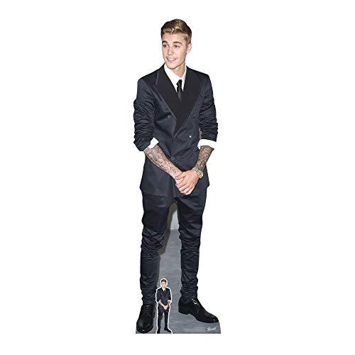 Justin Bieber (Smart Anzug und Smile) Größe 6ft/190cm hoch für Erwachsene mit kostenlosen Mini Desktop Cut Out