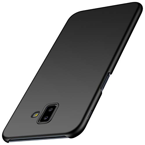 Avalri Funda para Samsung Galaxy J6 Plus, Diseño Minimalista Estuche Rígido Ultra Delgado de PC a Prueba de Golpes Resistente a Rasguños Cover para Samsung Galaxy J6 Plus 2018 (Negro Liso)