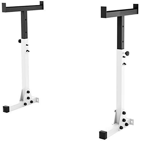 GoldFitness Unisex-Adult 5907688701210 Supportablage für Stange, White/Black, Universal