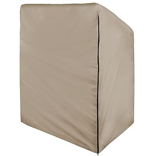BB Sport Abdeckung Schutzhülle für Strandkorb mit den Maßen 175/140 x 135 x 105 cm, wasserdicht mit verstärktem Rand und Metallösen - BEIGE (Sandstrand)
