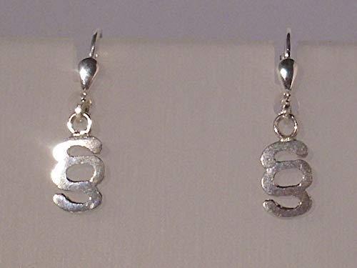 Paragraphen-Ohrgehänge Silber 925
