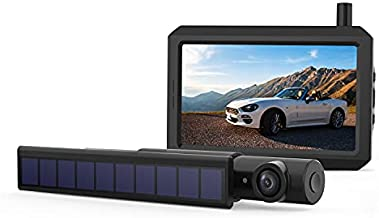 Solar Wireless Backup Camera, 720P True Wireless DIY Installation with Digital Signal, 5
