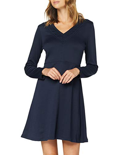Vila Clothes Damen VITINNY Bitten L/S LACE Detail Dress/ZA Kleid, Navy Blazer, M