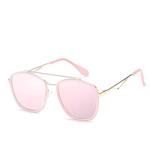 KuanDar clo Sonnenbrillen Für Frauen, Stilvolle,Metall Rand Rahmen, uv Augenschutz, Anti-Reflexion 100%,for Damen Uv400 Reflektierenden Spiegel, B