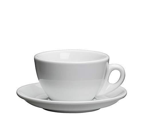 Cilio Cappuccinotasse, Porzellan, Weiß,