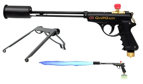 grillblazer GrillGun Basic Grill Torch & Lighter - Charcoal and Wood Starter - Professional Grilling and BBQ Handheld Blowtorch for Chefs, Men and Women Who Want to Have The Best Tool for The Job Accessories Charcoal Cooking Outdoor Starters Tools