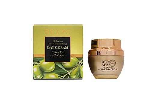 Bio Spa Collagen & Olive Oil Day Cream with Dead Sea Minerals Dunaliella Algae Extract For Moisturizing and Nourishing Skin