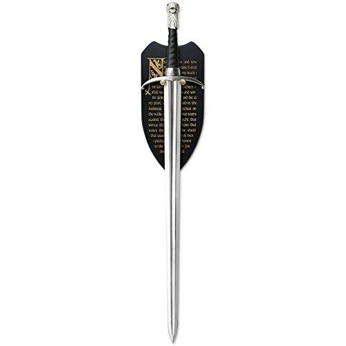 Elbenwald Game of Thrones Longclaw Schwert von Jon Snow zur Deko limitiert mit Wandplatte