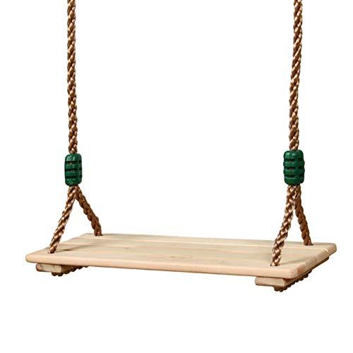 CeFoney Columpio de madera, asiento de interior y exterior para colgar en interiores y exteriores, cuerda de juguete