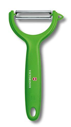 Victorinox Pelador de tomate y kiwi, con filo dentado y corte bidireccional, inoxidable, apto para el lavavajillas y de color verde