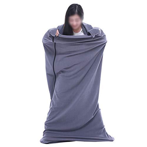 LICHUAN Bolso para Dormir Adulto de 180 * 75 cm, Saco de Dormir de Clima frío Soltero para Dormir para el Viaje de Camping al Aire Libre Interior (Color : Gris)