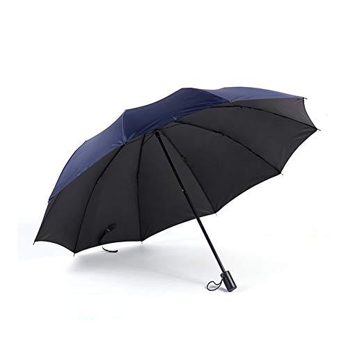 HUXIZ Regenschirm Reisen Folding Umbrella Anti-Splash-Regenschirm Sonnenschirm Gartenschirm leicht und kompakt Sonnenschirm (Farbe : Blau, Size : 100cm*10k)