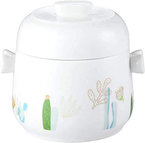 XY-M Tapa de cúpula Tapón de cerámica Parada Sopa de Vapor Stef Esmalte de Esmalte Pots Pot Pot Blanquea Vogelnest Tonic 15 onzas 450ml