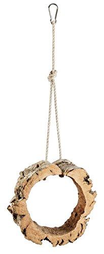 Kork-Deko - Balançoire ronde en écorce de liège naturel - jouet / accessoire pour oiseaux et rongeurs - pour jouer / grignoter - nettoyé et désinfecté