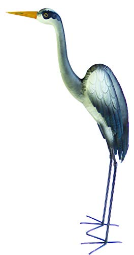 Supa Female Heron Garden Decoration , Metal Construction , Hand Painted Highly Detailed Lawn Ornament , Dimensions: Approx 487cm(L) x 20.5cm(W) x 106cm(H)