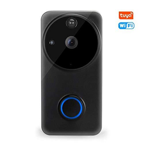 Outdoor Wireless Ring WiFi Video Tür Kamera, PIR-Monitor 2-Wege-Intercom-Kamera TUYA intelligentes Leben Alexa Google-Startseite Türklingel APP Kontrolle,Doorbell