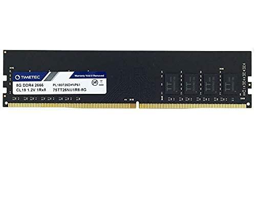 Timetec Hynix IC 8GB DDR4 2666MHz PC4-21300 Ungepuffert Non-ECC 1.2V CL19 1Rx8 Einzelrang 288 Pin UDIMM Arbeitsspeicher RAM-Modul (8GB)